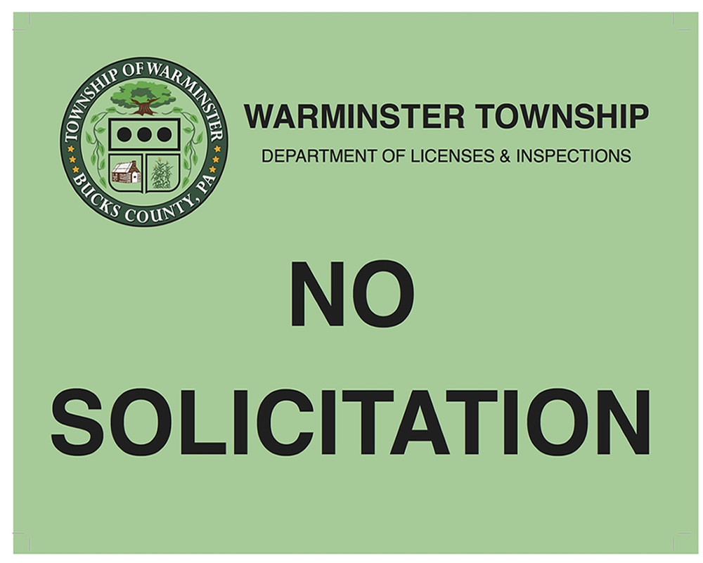 Warminster No Solicitation