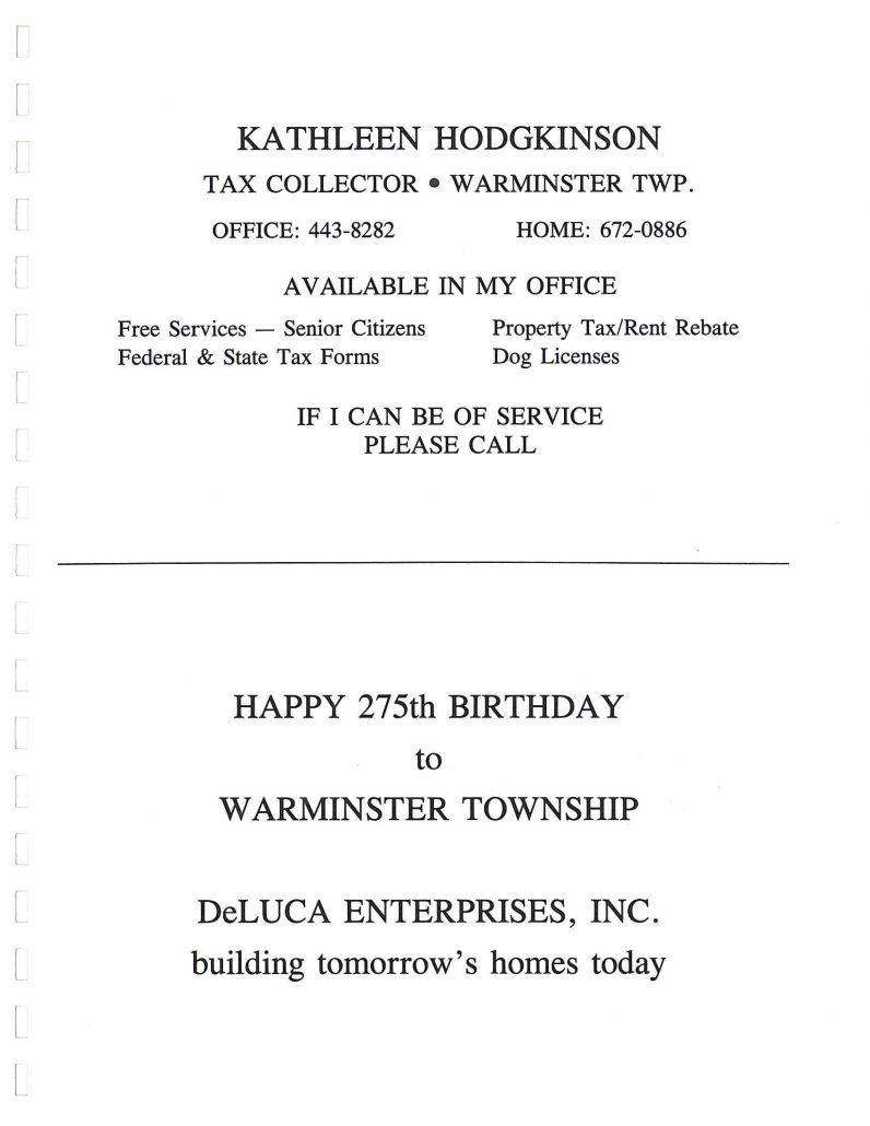 public information archives warminster township